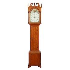 Philadelphia Cherry Chippendale Tall Case Grandfather Clock C. 1800 Solomon Park