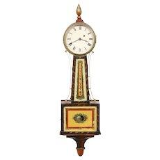 Simon Willard & Son Stencil Front Presentation Banjo Clock  C. 1830
