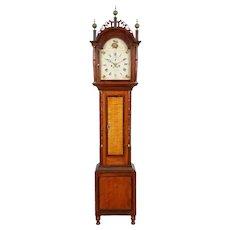 Frederick Wingate Augusta Maine Tall Case Clock C. 1830