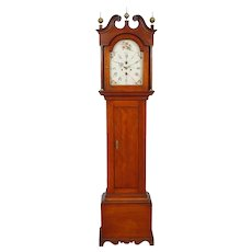 Timothy Chandler Concord NH Tall Case Grandfather Clock C. 1800