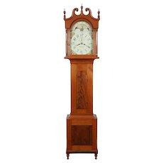 George Brenisen Womelsdorf PA C. 1844 Cherry Tall Case Clock