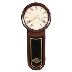 Rosewood Keyhole Weight Driven Regulator Clock Hatch No. Attleboro MA C. 1870