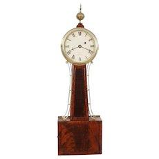 William Grant Boston C. 1820 Weight Driven Banjo Clock w/ original signed dial & original Mahogany tablets