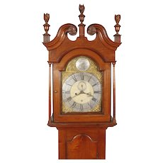 William Huston Philadelphia Walnut Chippendale Tall Case Clock C. 1770