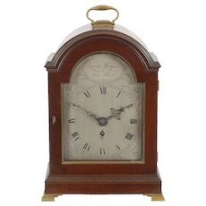 David Magnin New York Mahogany Fusee Bracket Clock C. 1800