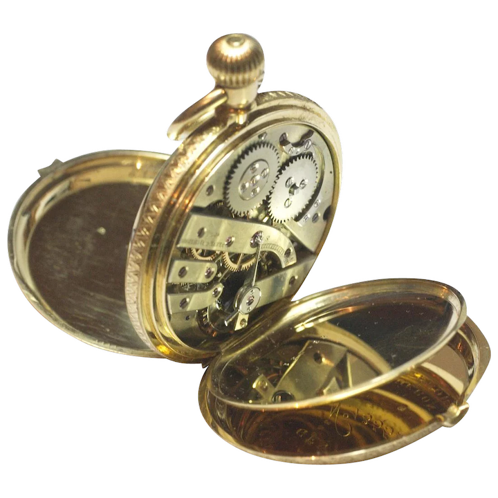 890f591e0 Vacheron Constantin 18K Gold Pocket Watch With Original Bill Of Sale :  Adams Brown Company | Ruby Lane