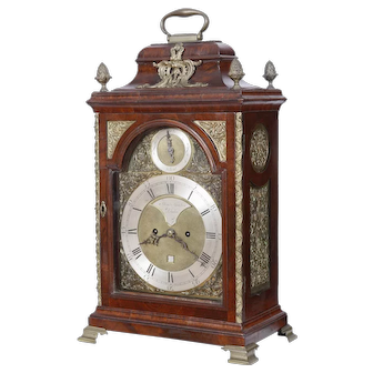 London Mahogany Fusee Bracket Clock made by Thomas Gardner C. 1770