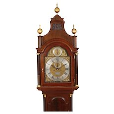 Samuel Hodges, London High Style Mahogany Longcase Antique Grandfather Clock C. 1770