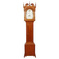 C. 1810 Federal Cherry 8-day Pennsylvania Tall Case Grandfather Clock, Lehigh Valley