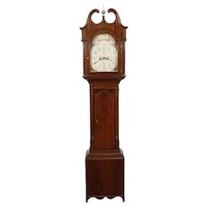 Federal Mahogany New York City Tall Case Grandfather  Clock Made by James Gray C. 1820's