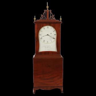 SIGNED Aaron Willard Jr. Kidney Dial Weight Driven Massachusetts Shelf Clock, Washington St. Boston C. 1815