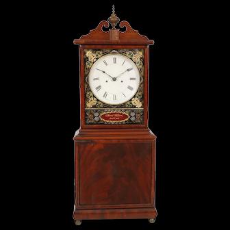 Aaron Willard Boston Dish Dial Striking Massachusetts Shelf Clock C. 1820