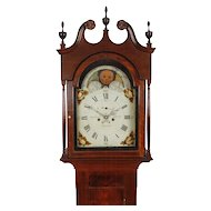 Josiah Smith, Reading C. 1820 Sheraton Walnut 8 Day Tall Case Clock