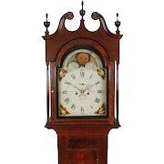 Josiah Smith, Reading C. 1820 Sheraton Walnut 8 Day Tall Case Clock