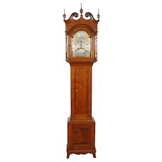 Adam Brant New Hanover, Montgomery County PA Brass Dial Walnut Chippendale Tall Case Clock C. 1785