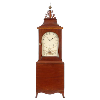 A fine Federal mahogany shelf clock, Boston, Massachusetts, circa 1810