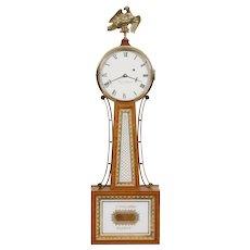 Elmer Stennes Weymouth MA Weight Driven Banjo Clock C. 1960's E. Howard Movement
