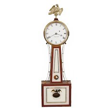 Foster Campos Cross Banded Mahogany S. Willard Patent Banjo Clock No. 19 2003