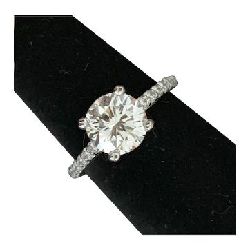 GIA Certified 2CT Diamond Engagement Ring