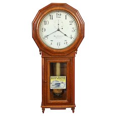 Seth Thomas Railroad Regulator #3 Weight Driven Clock for Ball Watch Co. C. 1885