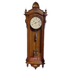 Seth Thomas No. 19 Sweep Seconds Jewelers Regulator Provenance: Chester PA Masonic Lodge