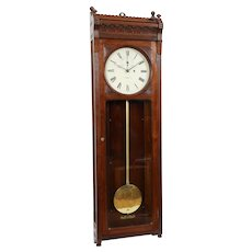 E. Howard No. 72 Walnut Weight Driven Regulator Clock C. 1880