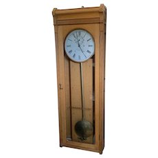"E. Howard Oak # 89 Station Clock Weight Driven Wall Regulator ""Standard Time""  C. 1889"