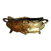 Small French Brass Jardiniere Planter