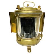 Japanese Brass Ship Light. Circa 1960s. NOS