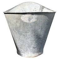 Vintage French Grape Pickers Hod Bucket