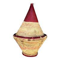 Vintage Moroccan Snake Charmer Basket