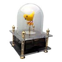 Vintage Westland Co. Japan Dancing Automaton Musical Bird