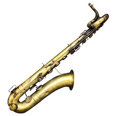 C. 1867 Antique French Baritone Saxophone by Francois Millereau