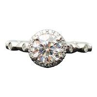 RITANI Platinum Canadian 1.00ct I-1 F Diamond Engagement Ring 1.22TCW
