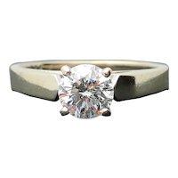 14k White Gold 0.72ct Round I-1 E Diamond Solitaire Engagement Ring