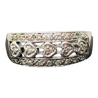14k White Gold Diamond Ring 0.18TCW