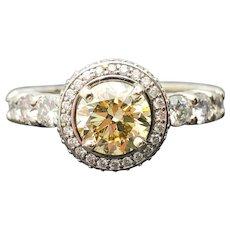 $20800 14k GIA VS-1 Fancy Diamond Engagement Ring 4.48TCW
