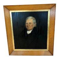 Antique c. 1840 English Large Portrait Original Birds Eye Maple Frame
