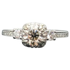 $6850 18k TACORI GIA 0.90ct VS-1 S-T Diamond Engagement Ring 1.39TCW