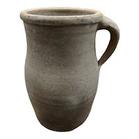 Antique French Primitive Pottery Jug