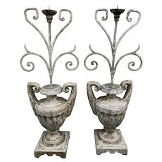 Antique Italian Candle Holders