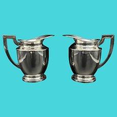 Art Deco Rogers Silverplate Water Jugs
