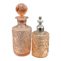 Antique Belgian Art Glass Perfume Set