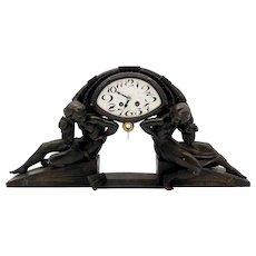 French Art Deco Mantle clock. L'Etoile by Van de Voorde