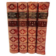 c. 1884 Antique Leatherbound bookset