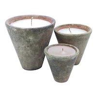 French Mini Seed Pot Candle Set