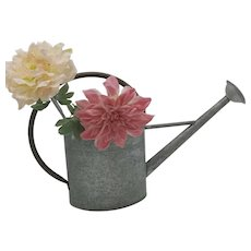 Beautiful French Zinc Watering Can With Copper Handle