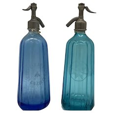 Beautiful French and Slovenian 1930's Soda Bottles
