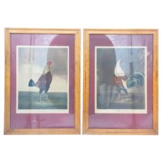 "Antique 19th Century Pair of Aquatints ""War and Peace"" Charles Turner"