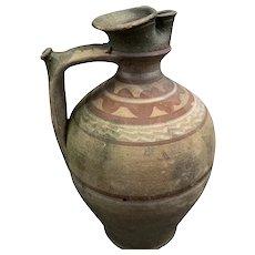Rare Antique 19th Century Terracotta Olive Oil Vessel